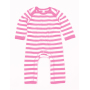 Baby Stripy Rompasuit 3-6 Monate Bubble Gum Pink/Washed White