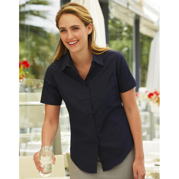 Ladies Poplin Shirt SS