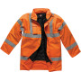 Motorway safety parka orange s