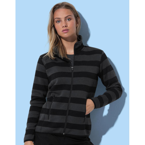 Active Striped Fleece Jacket Women