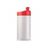 Sportbidon design 500ml - Wit / Rood