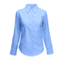 Lady-Fit longsleeve Oxford Shirt, Oxford Blue, XS, FOL