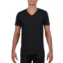 Gildan T-shirt V-Neck SoftStyle SS for him Black L