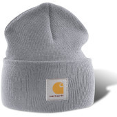 Acrylic watch hat heather grey one size