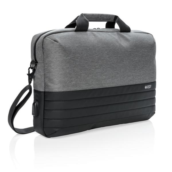 "Swiss Peak RFID 15.6"" laptoptas, grijs"