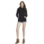 WOMEN'S HIGH NECK ZIP-UP HOODY