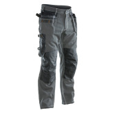 Jobman 2200 Trousers cotton hp do.grijs/zwa D092