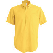 Ariana ii - heren overhemd korte mouwen light yellow xxl