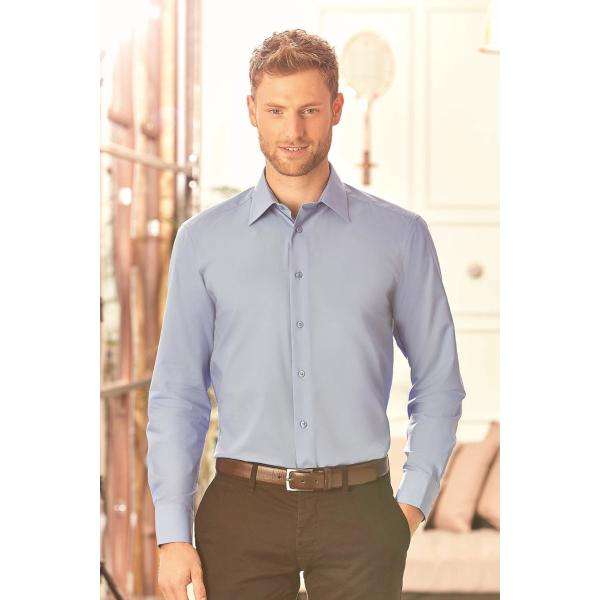 Men's Longsleeve Tailored Polycotton Poplin Shirt