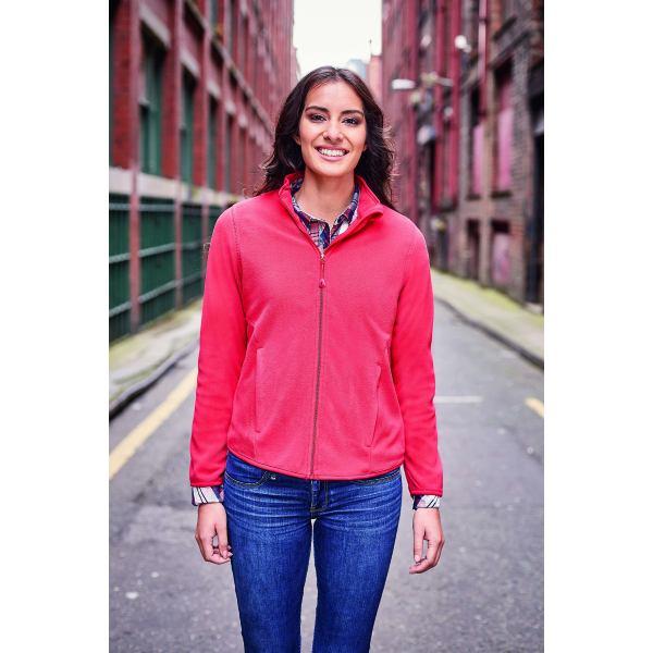 Ladies Fitted Full Zip Microfleece