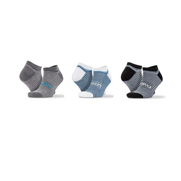 3 Pack Mixed Stripe Sneaker Socks