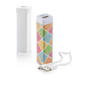 USB Powerbank 2200mAh - Full colour inlay & USB kabel