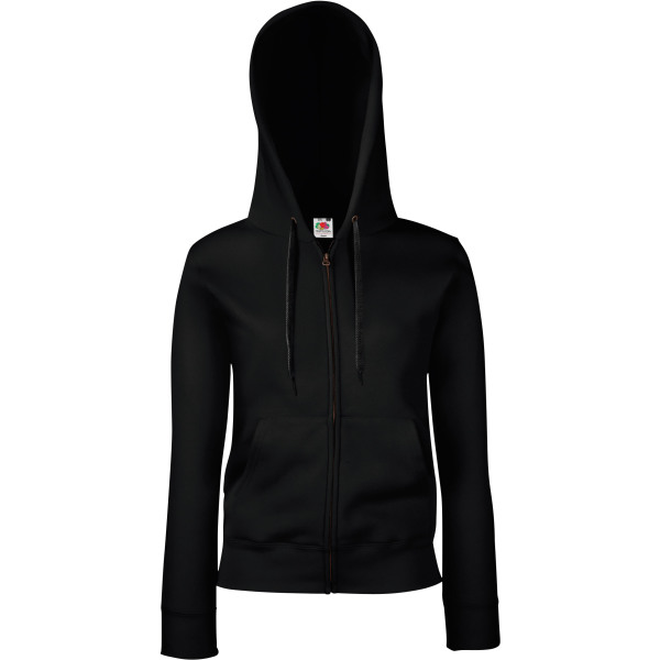Lady-fit premium hooded sweat jacket (62-118-0)