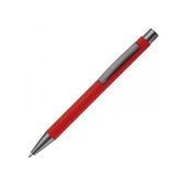 Balpen metaal New York rubberised - Rood