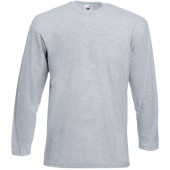 Valueweight long sleeve t (61-038-0) heather grey l