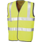 Safety hi-viz vest fluorescent yellow xxl