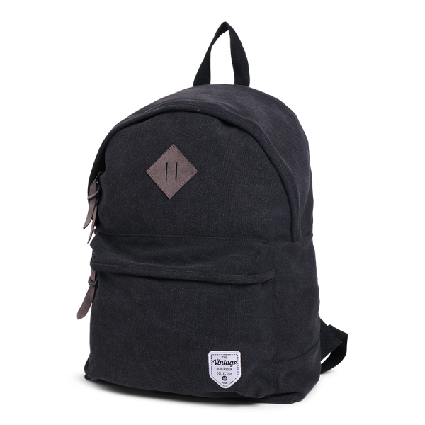 Vintage Canvas Backpack Black