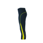 Ladies' Running Tights 3/4 ijzergrijs/citroen