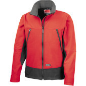 Activity softshell jacket red / black s