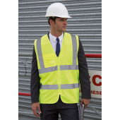 Core zip id safety tabard fluorescent yellow l/xl