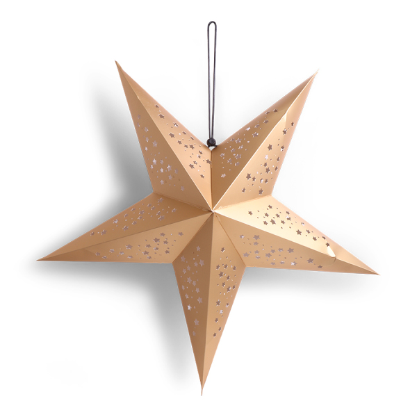 SENZA 3D Star Gold