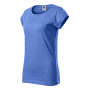 Fusion T-shirt Ladies blue melange 2XL