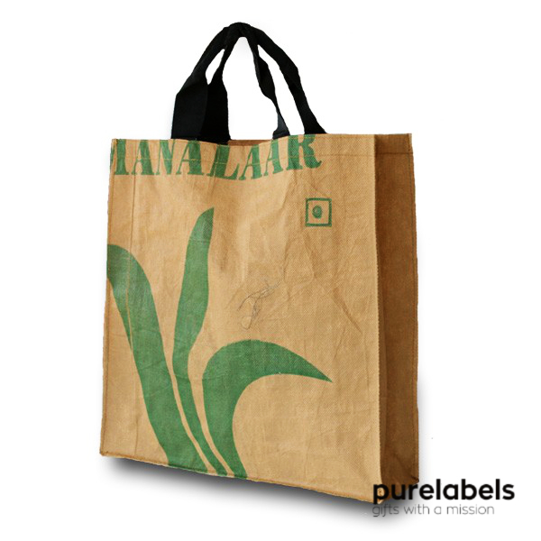 Duurzaam relatiegeschenk- Fairtrade tas van Teabags Medium