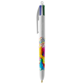 4 Colours ballpen LP white_UP white_RI white