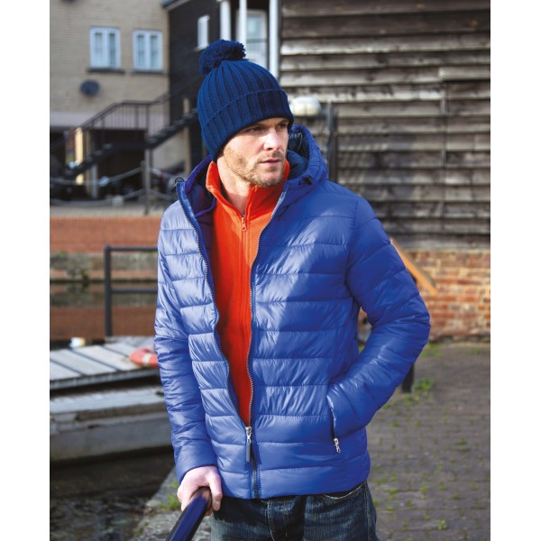 Mens snow bird hooded jacket