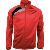 Trainingsjas sporty red / black / storm grey xl