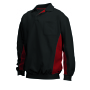 Polosweater Bicolor Borstzak 302001 Black-Red M