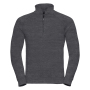 Adults HD 1/4 Zip Sweat, Grey Marl, XXL, RUS