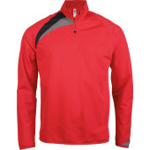 Trainingsweater met ritskraag