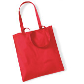 Bag for life - long handles bright red one size