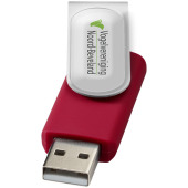 Rotate-doming USB 2GB - Rood/Zilver