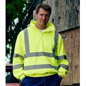 Hi-Vis Zip Neck Sweatshirt