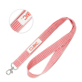 Plaid cotton lanyard