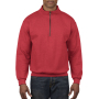 Gildan Sweater 1/4 Zip HeavyBlend red XL