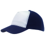 5-panel truckercap BREEZY - marineblauw, wit