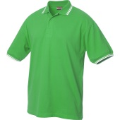 Amarillo polo pique tipping appelgroen/wit xs