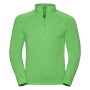 Adults HD 1/4 Zip Sweat, Green Marl, XXL, RUS