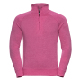 Adults HD 1/4 Zip Sweat, Pink Marl, XXL, RUS