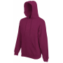 Premium Hooded Sweat, Burgundy, S, FOL