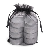 SENZA Organza Tealight Bag /8 Black