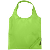 Bungalow opvouwbare polyester boodschappentas - Lime