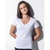Penny - Women's Organic V-Neck T-Shirt