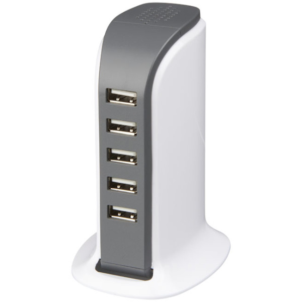 Tower bureau AC adapter met 5 USB poorten