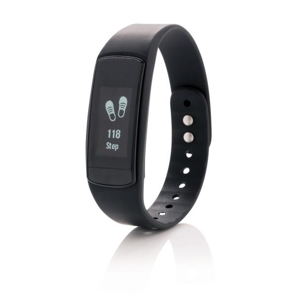 Activity tracker met touchscreen, zwart