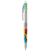 4 Colours Fashion ballpen LP white_UP white_RI white