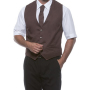 "Mens Vest ""Kai"" 64 Light Brown (ca. Pantone 2322C)"